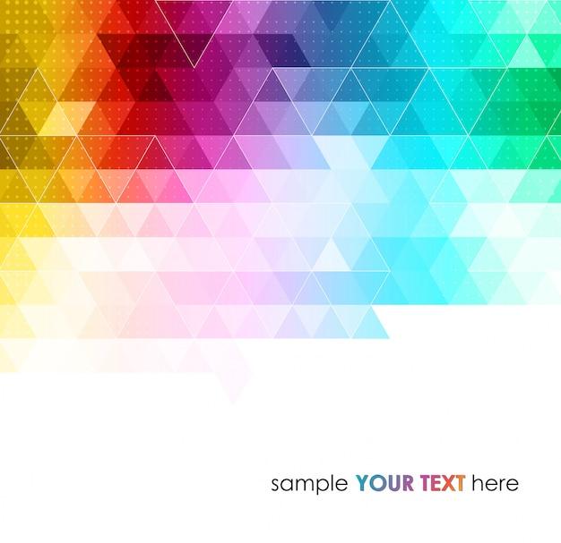 Abstrato geométrico colorido Vetor Premium