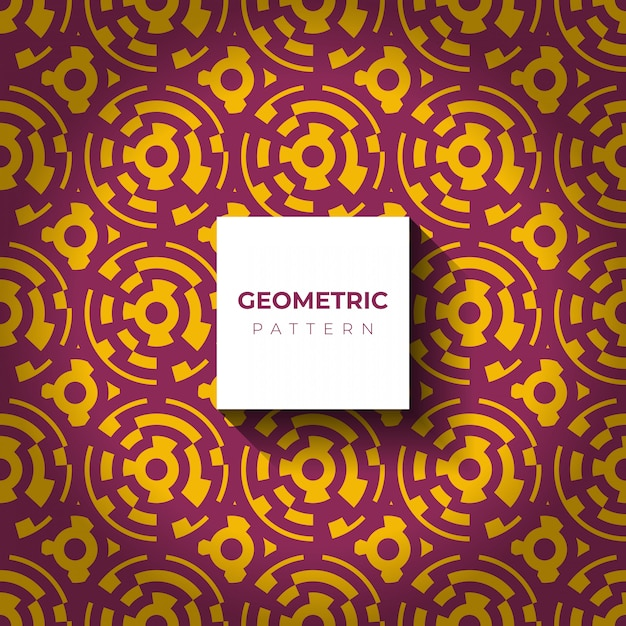 Abstrato geométrico com linhas de círculo Vetor grátis