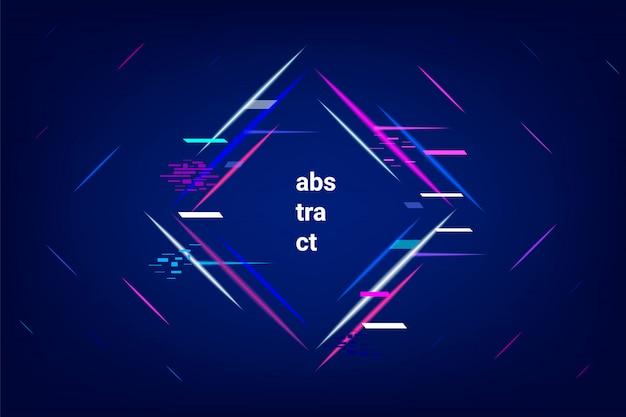 Abstrato geométrico de néon. Vetor Premium