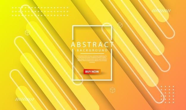 Abstrato geométrico moderno com gradiente dinâmico Vetor Premium