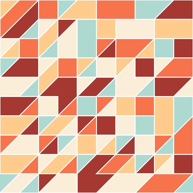 Abstrato geométrico padrão sem emenda. Vetor Premium
