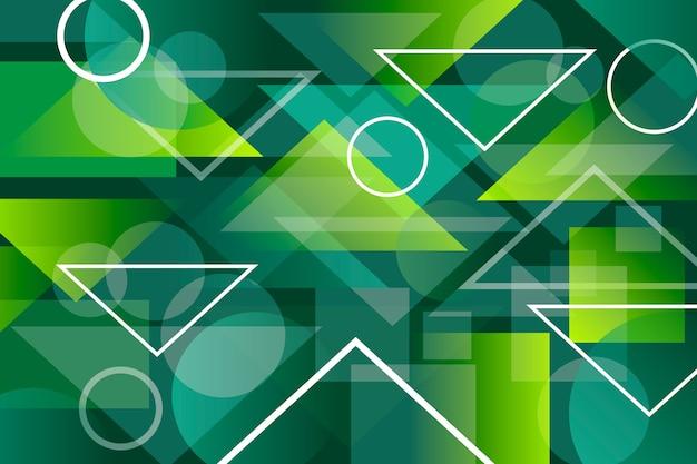 Abstrato geométrico verde Vetor grátis