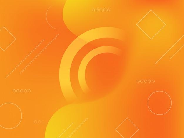 Abstrato gradiente com formas geométricas. Vetor Premium