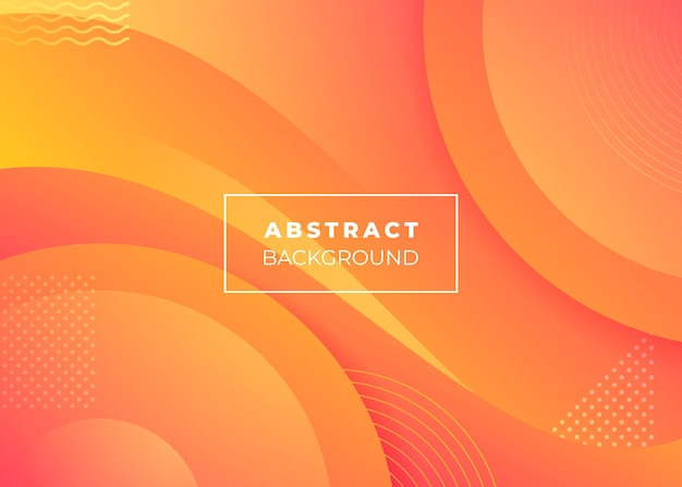 Abstrato laranja. fundo laranja minimalista. Vetor Premium