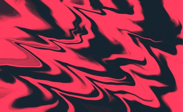 Abstrato líquido rosa e preto formas de fundo Vetor grátis