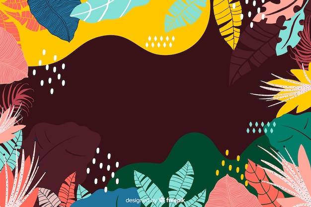 Abstrato mão desenhada fundo tropical Vetor grátis