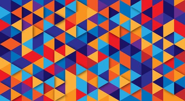 Abstrato moderno com elementos do triângulo. fundo com cores retrô para cartazes, banners e sites de landing page. Vetor Premium