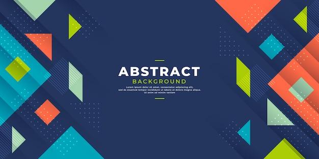 Abstrato moderno com formas geométricas coloridas. Vetor Premium