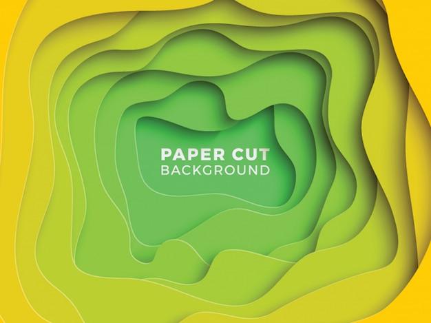 Abstrato multicolor com camadas de corte de papel ondulado Vetor Premium