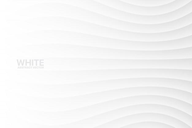Abstrato ondulado branco Vetor Premium