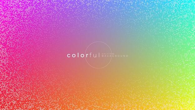 Abstrato ou padrão com elementos de meio-tom Vetor Premium