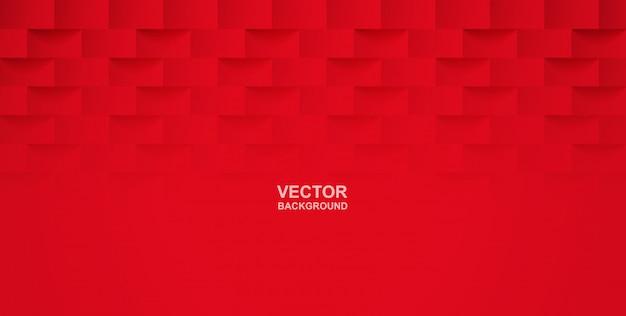 Abstrato. praça vermelha fundo geométrico. Vetor Premium
