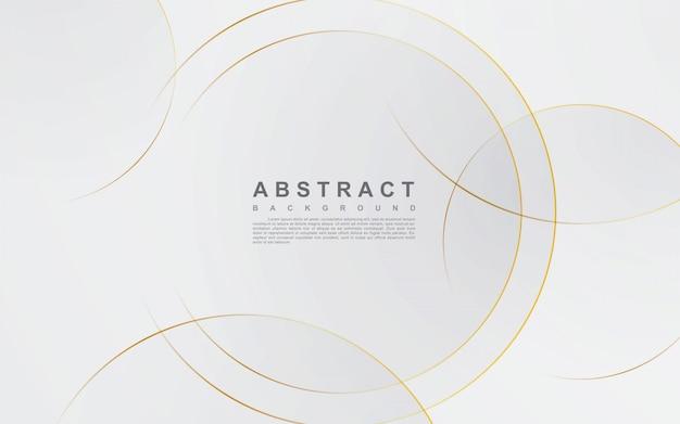 Abstrato prateado com linha de ouro do círculo Vetor Premium