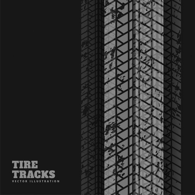 Abstrato preto com marcas de impressão de pneu Vetor grátis