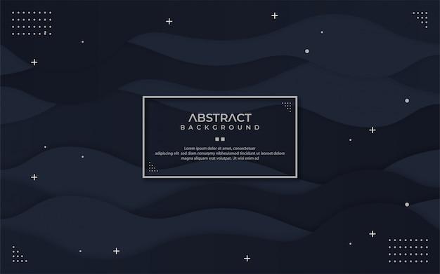 Abstrato preto em estilo ondulado Vetor Premium