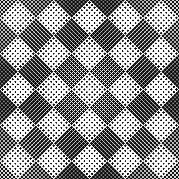 Abstrato quadrado padrão de fundo - monocromático Vetor Premium