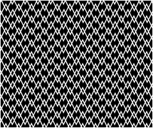 Abstrato sem costura padrão geométrico de fundo, preto e branco Vetor Premium