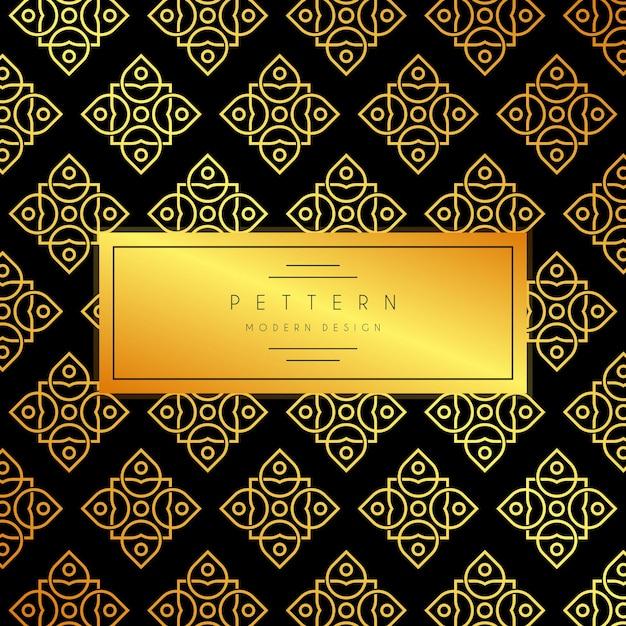 Abstrato sem costura padrão Vetor Premium