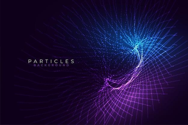 Abstrato tecnologia linhas brilhantes fractal estilo base projeto Vetor grátis