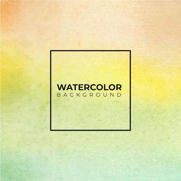 Abstrato verde aquarela, pintura à mão. salpicos de cor no papel Vetor Premium
