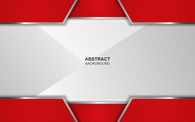 Abstrato vermelho e branco sobreposição de fundo Vetor Premium