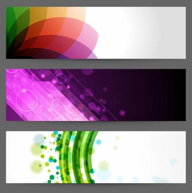 Abstratos banners do projeto Vetor grátis