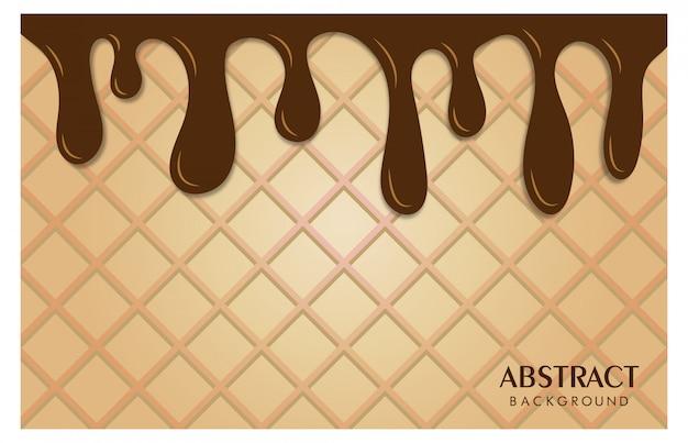 Abstratos, fundo, textura, sorvete, alimento bebida Vetor Premium