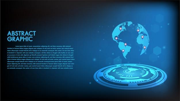 Abstratos, tecnologia, fundo Vetor Premium