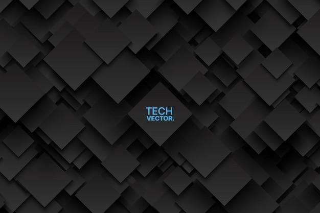 Abstratos, vetorial, tecnologia, escuro, fundo Vetor Premium