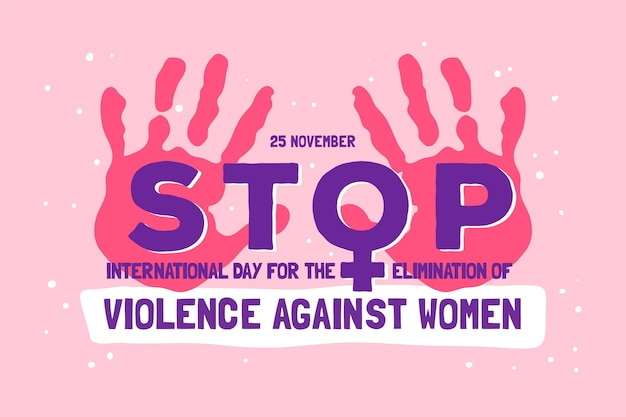 Acabar com a violência contra as mulheres 25 de novembro Vetor grátis