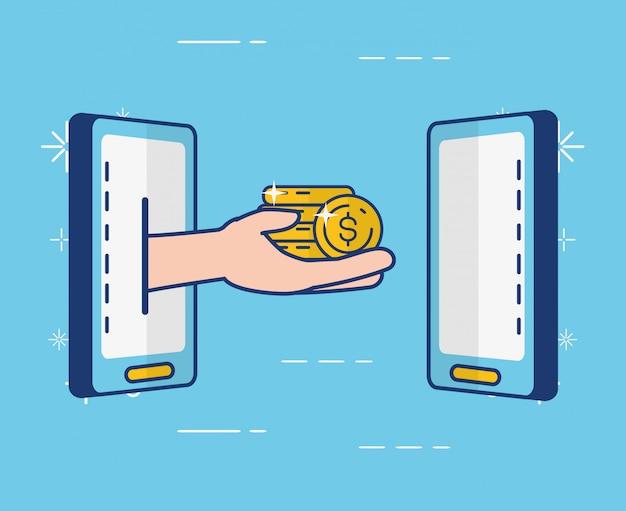 Acesso a operações bancárias via internet Vetor grátis