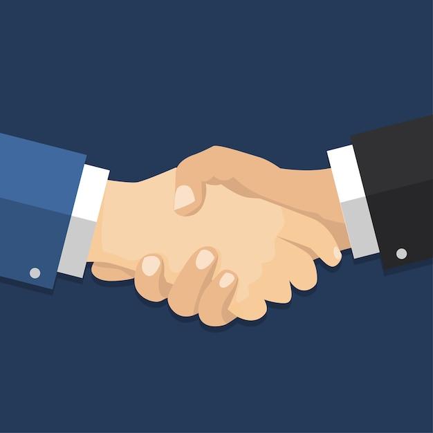 Acordo de empresário de aperto de mão. Vetor Premium
