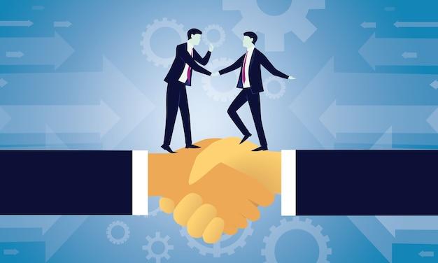 Acordo de negócios acordo conceito de parceria Vetor Premium