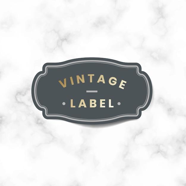 Adesivo de rótulo vintage decorado com vetor de rosas Vetor grátis