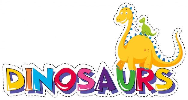 Adesivo para dinossauros de palavra Vetor grátis