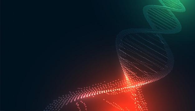 Adn brilhante feito com formação médica de partículas Vetor grátis
