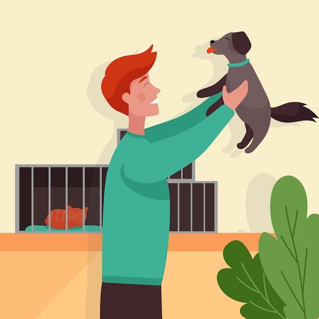 Adote um conceito de animal de estimação Vetor grátis
