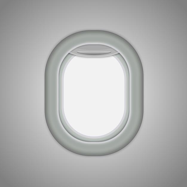 Aeronaves, janelas de avião. Vetor Premium