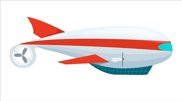 Aeróstato dirigível ícone isolado Vetor Premium