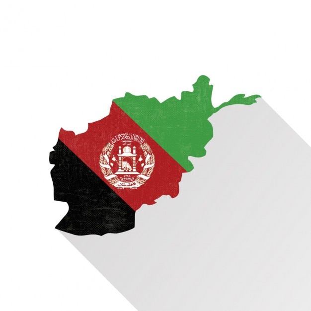 Afeganistão mapa Vetor grátis