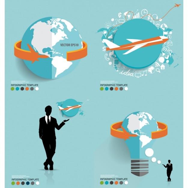 Agência de viagens infográfico Vetor grátis