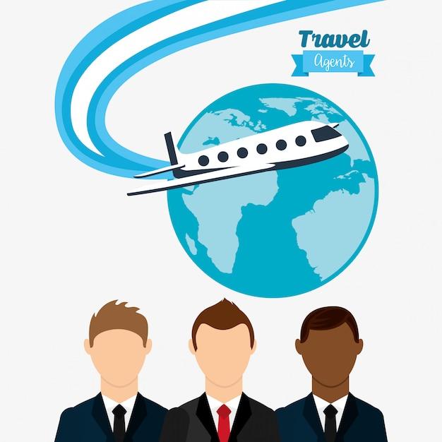 Agência de viagens Vetor Premium