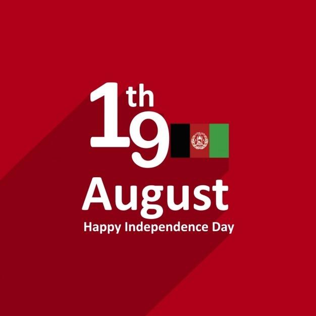 Agosto dia da independência do afeganistão 19 Vetor grátis