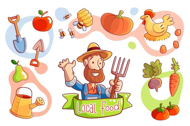 Agricultura orgânica ilustrada Vetor grátis