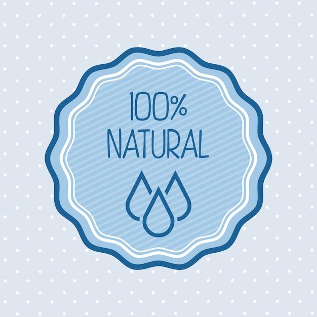 Água natural sobre ilustração vetorial de fundo azul Vetor Premium