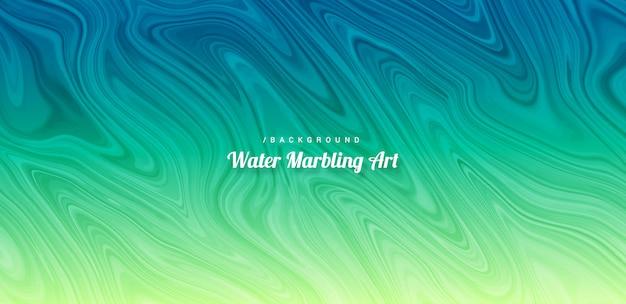 Água vibrante abstrata marmoreio arte base Vetor Premium