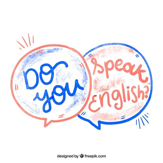 Aguarela você fala inglês? Vetor grátis