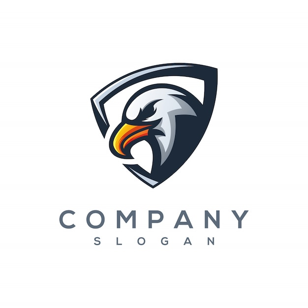 Águia e esporte logo vector Vetor Premium