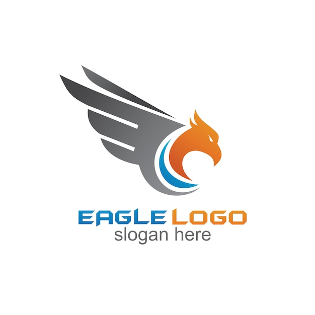 Águia logo vector Vetor Premium