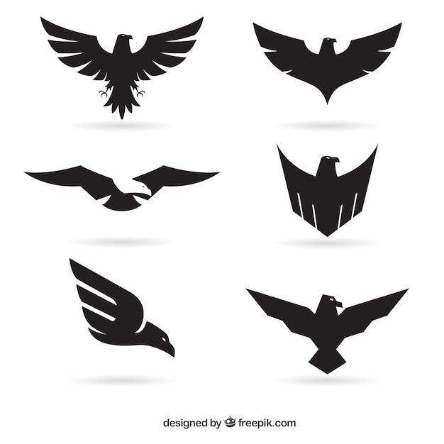 Águia logos Vetor grátis